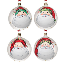 SET OF 4 Old St. Nick Asst Ornaments