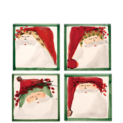 SET OF 4 Old St. Nick Assorted Coaster