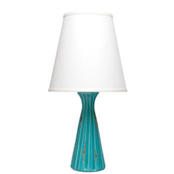 MODERN COLLECTION TURQUOISE RIDGE LAMP photo