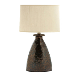 Metallic Hammered Lamp