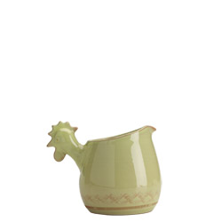 BELLEZZA CELADON SMALL PITCHER W/ ROOSTER HEAD HANDLE