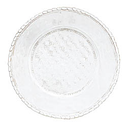BELLEZZA WHITE SERVICE PLATE/CHARGER
