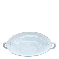 BELLEZZA SKY BLUE LARGE HANDLED SERVING BOWL