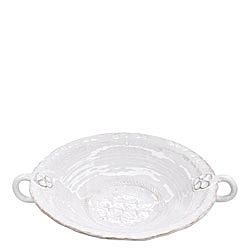 BELLEZZA WHITE LARGE HANDLED SERVING BOWL