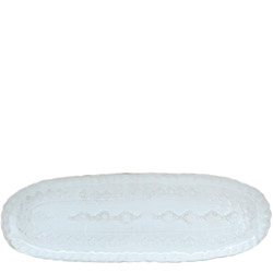 BELLEZZA SKY BLUE NARROW OVAL PLATTER