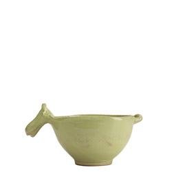 BELLEZZA CELADON SM BOWL W/ COW HEAD HANDLE