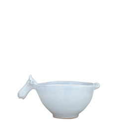 BELLEZZA SKY BLUE SM BOWL W/ COW HEAD HANDLE