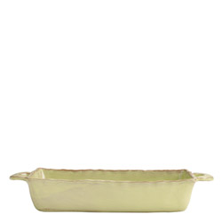 BELLEZZA CELADON MEDIUM RECTANGULAR BAKING DISH