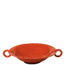 BELLEZZA TOMATO RED LARGE HANDLED SERVING BOWL