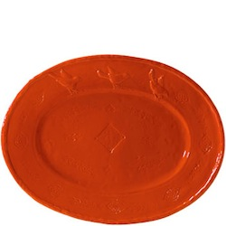 BELLEZZA TOMATO RED LARGE OVAL PLATTER