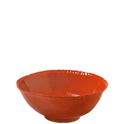 BELLEZZA TOMATO RED MEDIUM DEEP SERVING BOWL