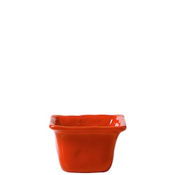 BELLEZZA TOMATO RED SQUARE CONDIMENT BOWL
