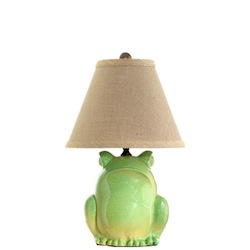 TUSCAN COLLECTION GREEN FROG LAMP