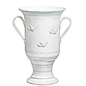 BZA WHITE FTD URN W/BIRDS