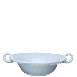 BELLEZZA SKY BLUE MEDIUM HANDLED SERVING BOWL