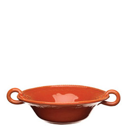 BELLEZZA TOMATO RED MEDIUM HANDLED SERVING BOWL