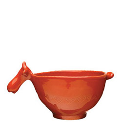 BELLEZZA TOMATO RED SM BOWL W/ COW HEAD HANDLE