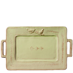Bellezza Celadon Handled Rectangular Platter