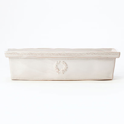 Bellezza White Rectangular Cachepot