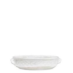 BELLEZZA WHITE MEDIUM ROUND BAKING DISH