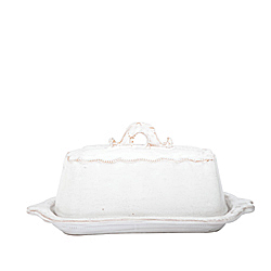 BELLEZZA WHITE BUTTER DISH AVAILABLE IN WHITE ONLY