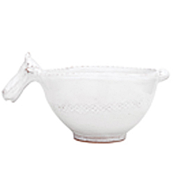 BELLEZZA WHITE SM BOWL W/ COW HEAD HANDLE