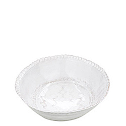 BELLEZZA WHITE MEDIUM DEEP SERVING BOWL