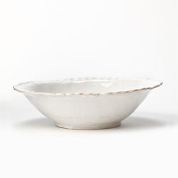 BELLEZZA WHITE MEDIUM SERVING BOWL