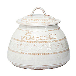 BELLEZZA WHITE BISCOTTI JAR AVAILABLE IN WHITE ONLY