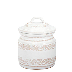 BELLEZZA WHITE SMALL CANISTER AVAILABLE IN WHITE ONLY