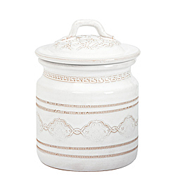 BELLEZZA WHITE MEDIUM CANISTER AVAILABLE IN WHITE ONLY