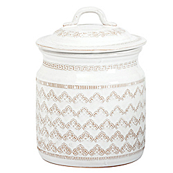 BELLEZZA WHITE LARGE CANISTER AVAILABLE IN WHITE ONLY