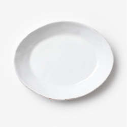 Bianco Small Shallow Oval Bowl