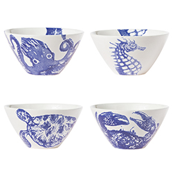 Set of 4 Costiera Assorted Blue Cereal Bowls  sc 1 st  la Terrine & Costiera Blue Octopus Mug In Costiera By Vietri | la Terrine