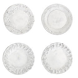 SET OF 4 Incanto Asst Canape Plate