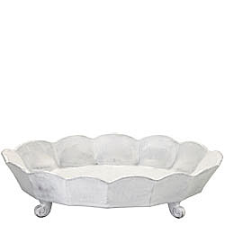 INCANTO SCALLOP LG OVAL FOOTED CENTERPIECE