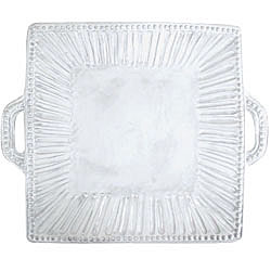 INCANTO STRIPE SQ HANDLED PLATTER