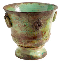 RUSTIC GARDEN XL LIGHT GREEN GIGLIO PLANTER