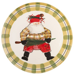 OLD ST NICK RND PLATTER
