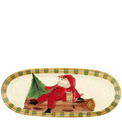OLD ST. NICK NARROW OVAL PLATTER