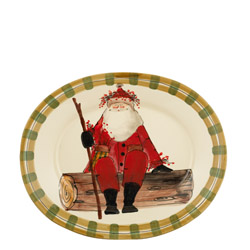 OLD ST. NICK LARGE OVAL PLATTER
