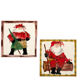 SET OF 2 Old St. Nick Asst Square Trivet