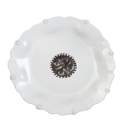 Incanto Pearl Salad Plate with Metallic Emblem