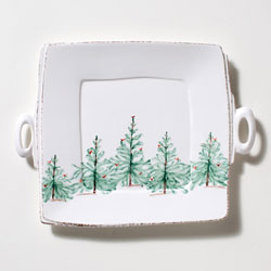 Lastra Holiday Handled Square Platter photo