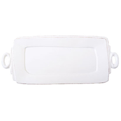 LASTRA WHITE HANDLED RECTANGULAR PLATTER photo