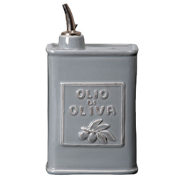 Lastra Gray Olive Oil Can