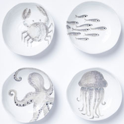 Marina Assorted Pasta Bowls - Set of 4 photo