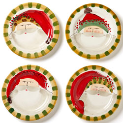 Old St. Nick Assorted Round Salad Plates photo