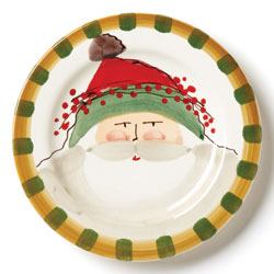 Old St. Nick Round Salad Plate - Green Hat photo
