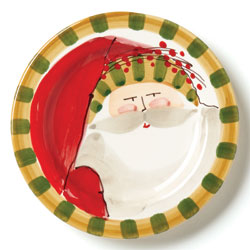 Old St. Nick Round Salad Plate - Striped Hat photo